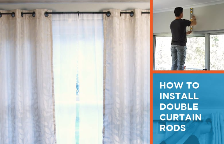 installing double curtain rods